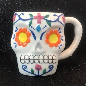 NWOT Day of the Dead Coffee Mugs.  Set of 2.